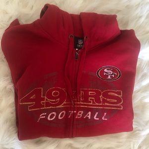 San Francisco 49er Zip Up Hoodie